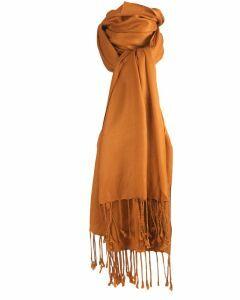 Pashmina sjaal in donkergoud