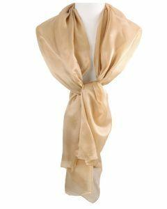 Zijden stola/sjaal in de kleur goud