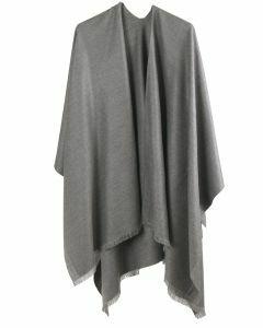 Effen omslagdoek in grijs