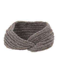 Gebreide haarband in grijs
