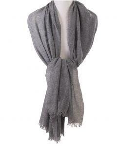Grijze stola/sjaal van 100% kasjmier