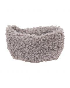 Haarband van kunst-schapenbont in lichtgrijs