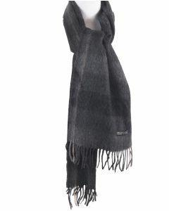 Grijs gemêleerde sjaal van Alpaca-wol