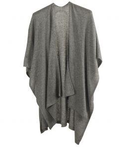 Kasjmier-blend omslagdoek in grijs