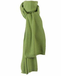 Kasjmier-blend sjaal in appelgroen