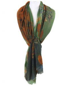 """Wollen mousseline schilderij-sjaal met portret van Joseph Roulin door """"van Gogh"""""""