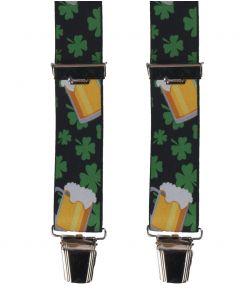 Zwarte bretels met St. Patrick's day thema