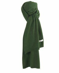 Kasjmier-blend sjaal in groen