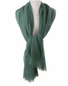 Jadegroene stola/sjaal van 100% kasjmier