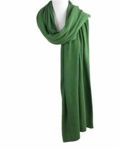 Kasjmier-blend sjaal/omslagdoek in grasgroen