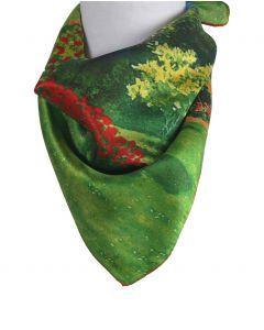 Vierkant zijden sjaaltje met schildering van ''Claude Monet''
