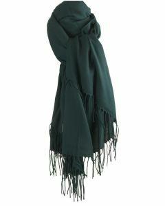 Soepelvallende donkergroene pashmina sjaal