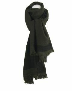 Legergroene wol-blend sjaal