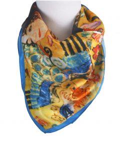 """Zijden sjaaltje met afbeelding van """"Lady with Fan'' van Gustav Klimt"""