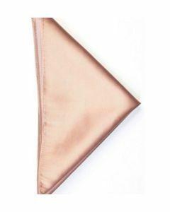 effen beige 100% twill zijden pochet