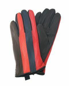 Leren patchwork handschoenen