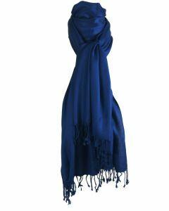 Kobaltblauwe pashmina sjaal