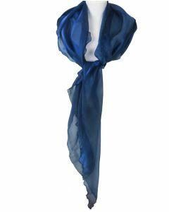 Kobaltblauwe stola met weerschijneffect