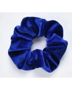 Velvet Scrunchie - Kobaltblauw