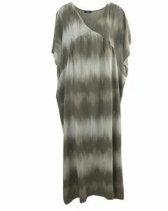 Maxi jurk met kleurverloop in grijs-taupe
