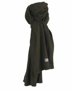 Kasjmier-blend sjaal in legergroen