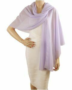 Licht-lavendelkleurige soepelvallende cape stola