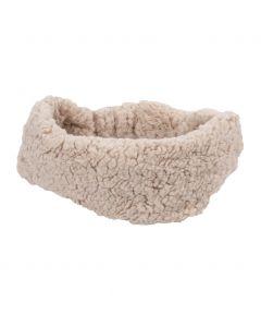 Zandkleurige kunstbont haarband