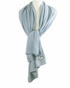 Kasjmier-blend sjaal/omslagdoek in lichtblauw