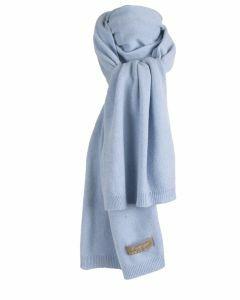 Kasjmier-blend sjaal in lichtblauw