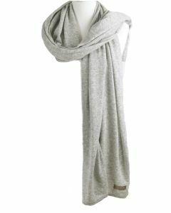 Kasjmier-blend sjaal/omslagdoek in lichtgrijs