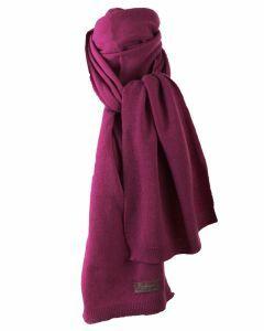 Kasjmier-blend sjaal in donker-fuchsia