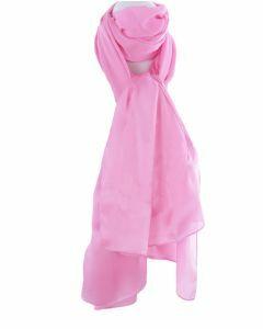 Lichtroze zijden sjaal