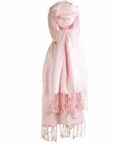 Lichtroze pashmina sjaal