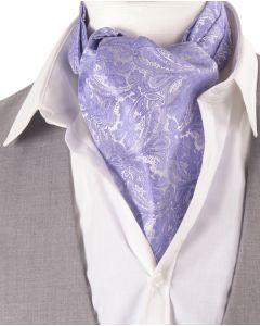 Lila kleurige Ascot Cravat met paisleydesign