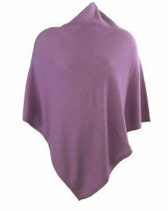Kasjmier-blend poncho in lila