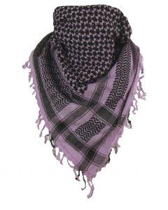 PLO sjaal / Arafat sjaal in lila-zwart
