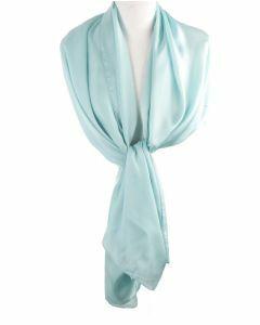 Mintgroene effen zijden sjaal/stola