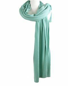 Kasjmier-blend sjaal/omslagdoek in pastelgroen