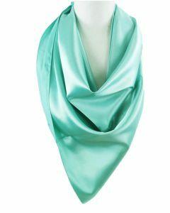 Vierkante satijnen sjaal in mintgroen