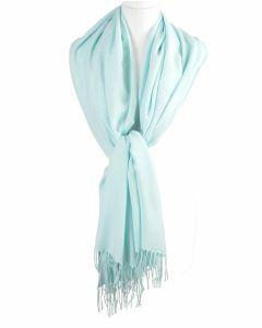 Soepelvallende effen mintgroene pashmina sjaal