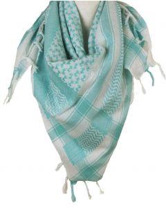 PLO sjaal / Arafat sjaal in mintgroen-wit