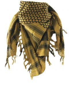 PLO sjaal / Arafat sjaal in zwart en mosterdgeel