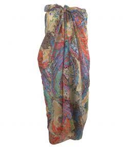 Lichtbeige sarong met ornament print