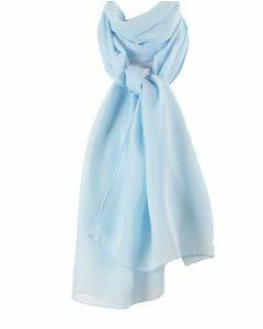Effen lichtblauwe crêpe sjaal