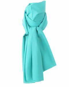 Turquoise crêpe sjaal