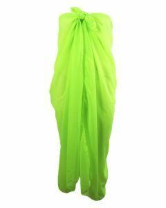 Effen neon groene pareo