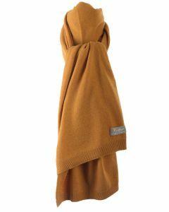 Kasjmier-blend sjaal in okergeel
