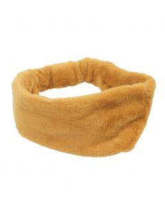 Kunstbont haarband in okergeel