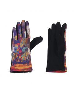 Handschoenen met een olieverf schildering