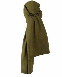Kasjmier-blend sjaal in olijfgroen